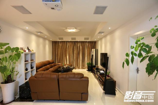 公寓客厅巧变梦中情人般的HIFI音乐间和私家影院