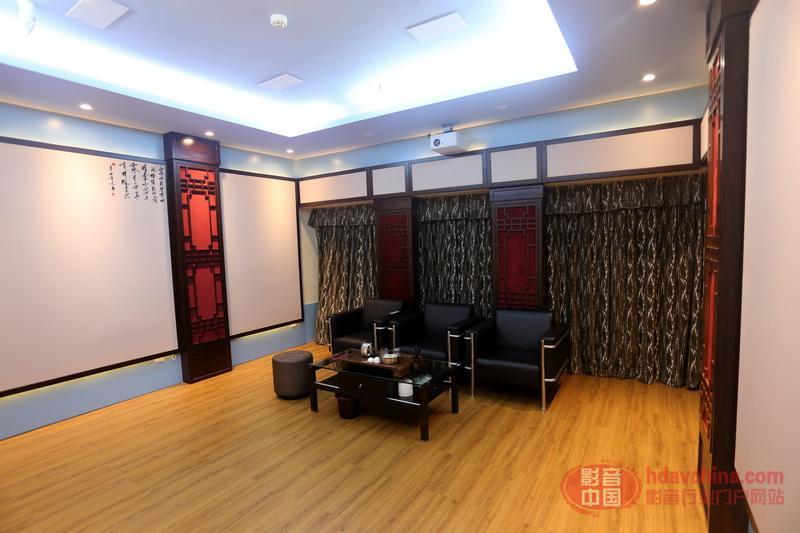 中式古典影院里的豪华视听享受-雅乐荟深圳万商7.2.4全景声展厅