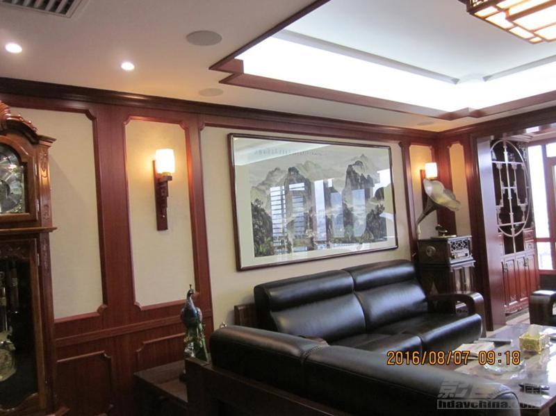 仅需6万,客厅巧妙升级-乐享智能衡阳西湖水岸通透式客厅影院案例赏