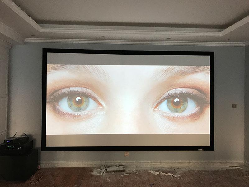 大予集智倾力打造简约品质私家影院,Panel Audio隐形音箱案例